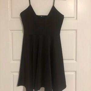 Black v-neck missguided skater dress